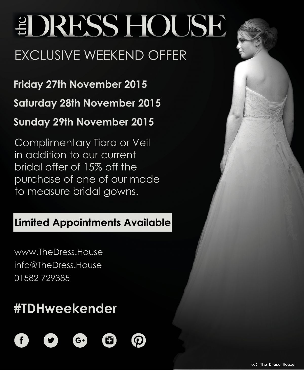 Wedding Weekend Offer On Bridal Gowns | News | The Dress House
