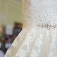 Our Ludlow gown at Hitchin Priory Wedding Show