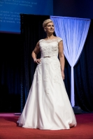 Corrine wears our made-to-measure Albany A-line gown at St Albans 2016 (Photo Visual Devotion)