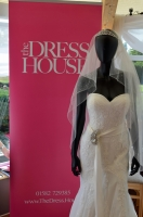 The Tribeca wedding dress greets brides to be at Chesfield Downs