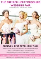 Hertfordshire Wedding Fair Sunday 21st February