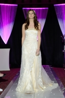 Mulberry Wedding Dress on Knebworth Barns Catwalk