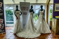 Wedding gowns from left to right , Delancey, Mulberry and Park are ready for todays fair Sunday 4th September at Chesfield Downs Golf and Country Club
